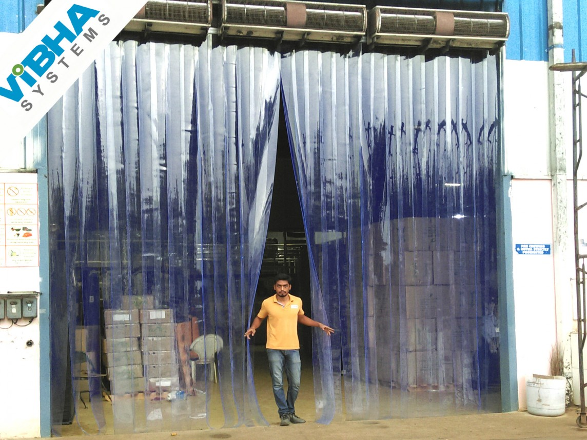 Industrial PVC Strip Curtains India, Industrial PVC Strip Curtains Chennai, Industrial PVC Strip Curtains Bangalore