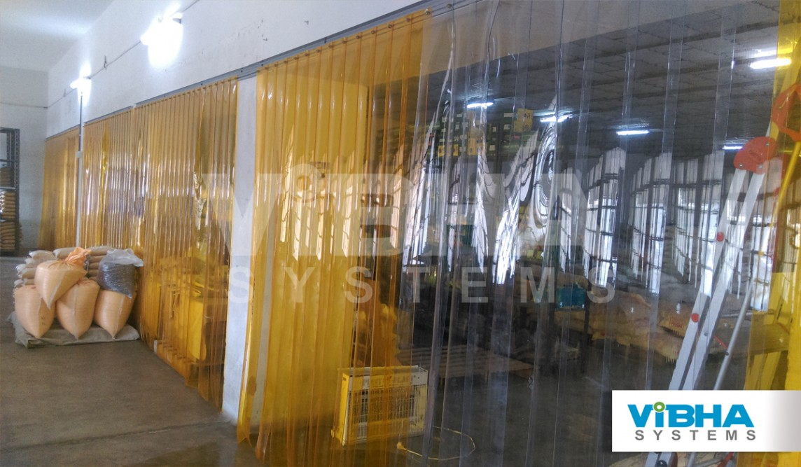 insect control plastic strip curtains