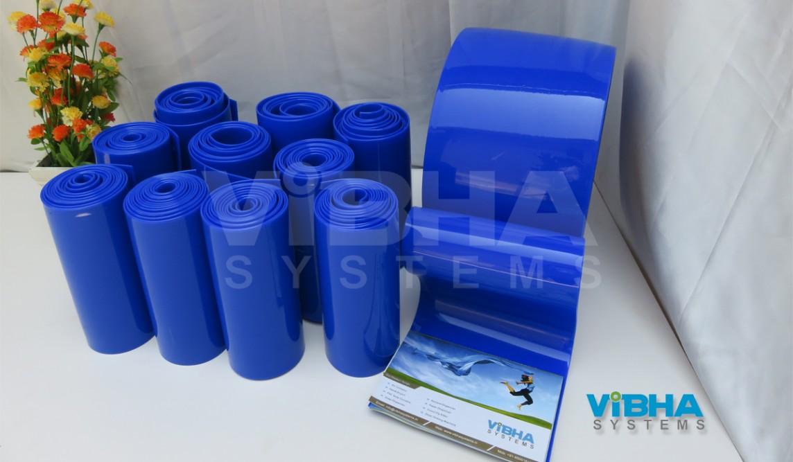 pvc strip roll blue color