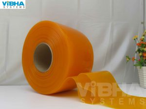 INSECT AMBER PVC STRIP CURTAIN ROLL