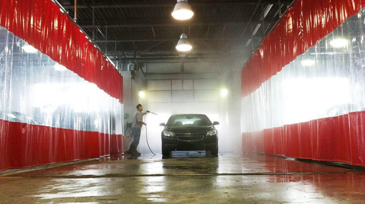 Wash bay curtains in a variety of colors and configurations. Design your wash bay curtains with various colors. reduce dust, create privacy, and divide workflow