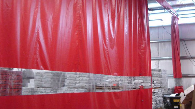 Factory Divider Curtains & PVC curtains. Fully customised factory and workshop screens