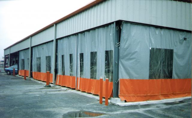 Maximise your industrial space with flexible exterior curtains. easy and fast enclosure of any size area.