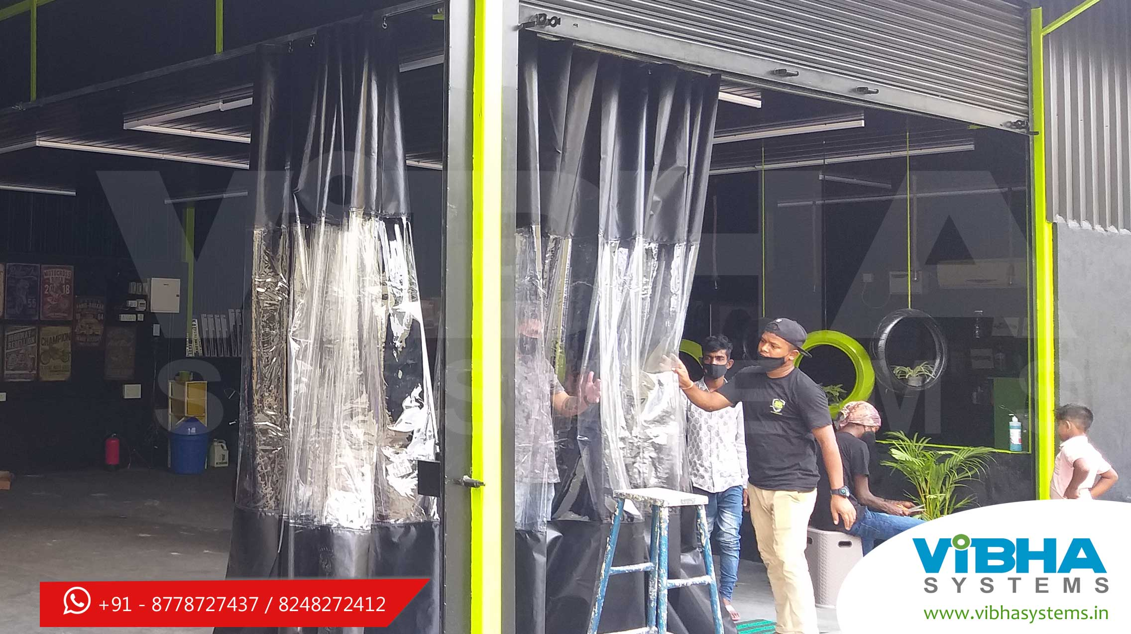 Portable wash bay curtains Sliding type car wash curtains india Foldable car wash curtains india Washable bay curtains Car wash area curtains Industrial wash down curtains Carwash curtain Industrial curtains