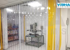 PVC Strip Curtains for Machine Enclosure at Bengaluru site